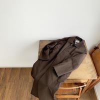 《YAECA》ステンカラーコート ロング BROWN