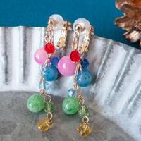 【 イルミネーション  】かわいい玉色のイヤリング