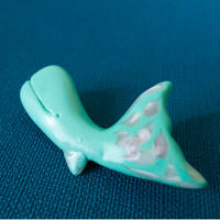 【 廻游くじら 】クジラのブローチ no.1162B