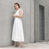 【予約商品】100558 / プリーツスリーブワンピース(WHITE)