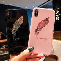 輸入雑貨 シンプル フェザー 羽  iphone XR ケース 最大種類 iphone 8 7 6 6 s-plus スマホケース