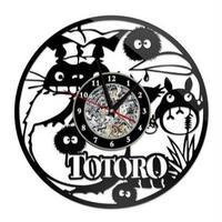 輸入雑貨 トトロ 30cm レコード盤 壁掛け時計 アニメ 映画 人気  インテリア ディスプレイ 15
