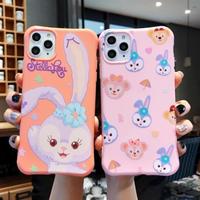 輸入雑貨 ダッフィー 仲間たち ♥キャンディーカラー  iphone 11 Pro MAX 最大種類 iphone 8 7 6 6 s  ディズニー