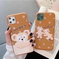 輸入雑貨 ダッフィー♡シェリーメイ ディズニー iphone 11 Pro MAX 最大種類 iphone 8 7 7p ダッフィー4
