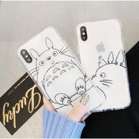 輸入雑貨 クリア トトロ totoro  iphone 11  Pro MAX 最大種類 iphone 8 7 6 6 s-plus クリアトトロ