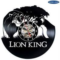 輸入雑貨 ライオンキング 30cm レコード盤 壁掛け時計 アニメ 映画 人気  インテリア ディスプレイ 4種類展開 2