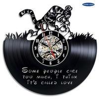 輸入雑貨 プーさん ピグレット 30cm レコード盤 壁掛け時計 アニメ 映画 人気  インテリア ディスプレイ 2種類展開 2