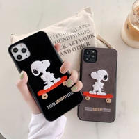 輸入雑貨 スヌーピー snoopy iphone 11 Pro MAX 最大種類 iphone 8 7 7-plus スケボー布刺繍