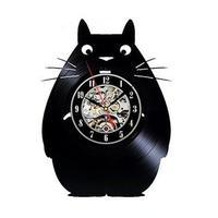 輸入雑貨 トトロ 30cm レコード盤 壁掛け時計 アニメ 映画 人気  インテリア ディスプレイ 8