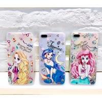 輸入雑貨 ディズニー プリンセス  ケータイカバー  iphone X 最大種類 iphone 8 7 6 6 s-plus 半透明ケース