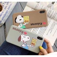 輸入雑貨 スヌーピー snoopy ケータイカバー  iphone XR XsMAX 最大種類 iphone 8 7 6 6 s-plus LOVEドッグフード