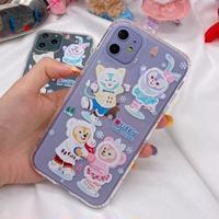 輸入雑貨 ダッフィー 仲間たち ディズニー iphone 11 Pro MAX 最大種類 iphone 8 7 6 6 s  雪遊び♡
