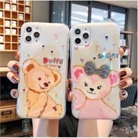 輸入雑貨 ダッフィー♡シェリーメイ ディズニー iphone 11 Pro MAX 最大種類 iphone 8 7 6 6 s  クリア ダッフィー2