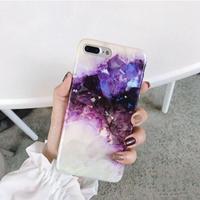 輸入雑貨 高級夢  パープルクリスタル  iphone 11 Pro MAX 最大種類 iphone 8 7 6 6 s iPhoneケース