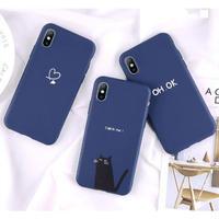 輸入雑貨 シンプルネイビー   iphone XR XsMAX 最大種類 iphone 8 7 6 5 SE-plus Navyスマホケース