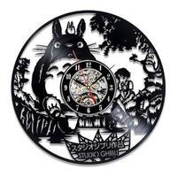輸入雑貨 トトロ 30cm レコード盤 壁掛け時計 アニメ 映画 人気  インテリア ディスプレイ 14