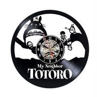 輸入雑貨 トトロ 30cm レコード盤 壁掛け時計 アニメ 映画 人気  インテリア ディスプレイ 7