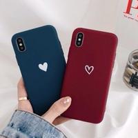 輸入雑貨 シンプル ハート 1♡  iphone 11 Pro MAX ケース 最大種類 iphone 8 7 6 6 s-plus スマホケース