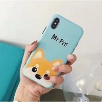 輸入雑貨 Myペット Dog  犬 ケータイカバー iphone XR XsMAX 最大種類 iphone 8 7 6 6 s-plus ブルー