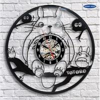輸入雑貨 トトロ 30cm レコード盤 壁掛け時計 アニメ 映画 人気  インテリア ディスプレイ 2種類展開 1