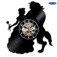輸入雑貨 美女と野獣 30cm レコード盤 壁掛け時計 アニメ 映画 人気  インテリア ディスプレイ 5種類展開 13