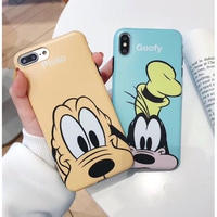 輸入雑貨 FACE  Wドッグ ディズニー スマホカバー  iphone XR XsMAX 最大種類 iphone 8 7 6 6 s-plus