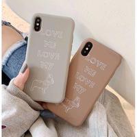 輸入雑貨 シンプル Dog LOVE ♡  iphone XR ケース 最大種類 iphone 8 7 6 6 s-plus スマホケース フレンチブルドッグ