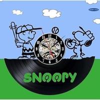 輸入雑貨 スヌーピー 30cm レコード盤 壁掛け時計 アニメ 映画 人気  インテリア ディスプレイ 2種類展開 スヌーピー野球