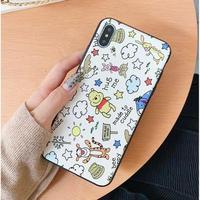 輸入雑貨 プーさん ディズニー ケータイカバー  iphone XR XsMAX 最大種類 iphone 8 7 6 6 s-plus シルクパターン1