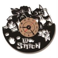 輸入雑貨 リロ&スティッチ 30cm レコード盤 壁掛け時計 アニメ 映画 人気  インテリア ディスプレイ 2種類展開 2