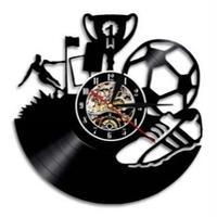 輸入雑貨 サッカー チーム 壁アート ヴィンテージ 30cm レコード盤 壁掛け時計 アニメ 映画 人気  インテリア ディスプレイ 6種類展開 5