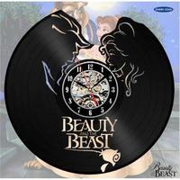 輸入雑貨 美女と野獣 30cm レコード盤 壁掛け時計 アニメ 映画 人気  インテリア ディスプレイ 8種類展開 2
