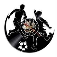 輸入雑貨 サッカー チーム 壁アート ヴィンテージ 30cm レコード盤 壁掛け時計 アニメ 映画 人気  インテリア ディスプレイ 6種類展開 2
