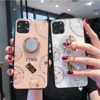輸入雑貨 ダイヤモンド時計リングスタンド  iphone 11 Pro MAX 最大種類 iphone 8 7 6 plus iPhoneケース