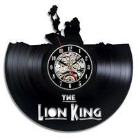 輸入雑貨 ライオンキング 30cm レコード盤 壁掛け時計 アニメ 映画 人気  インテリア ディスプレイ 2種類展開 5