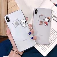 輸入雑貨 スヌーピー仲間たち snoopy ケータイカバー  iphone XR XsMAX 最大種類 iphone 8 7 6 6 s-plus  クリア 3