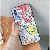 輸入雑貨 アリエル ディズニー ケータイカバー  iphone XR XsMAX 最大種類 iphone 8 7 6 6 s-plus シルクパターン3