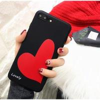 輸入雑貨 シンプル Big ハート iphone XR XsMAXケース 最大種類 iphone 8 7 6 6 s-plus 5 SE Bigハート