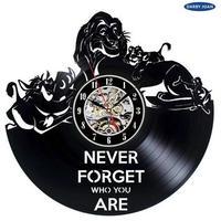 輸入雑貨 ライオンキング 30cm レコード盤 壁掛け時計 アニメ 映画 人気  インテリア ディスプレイ 4種類展開 4