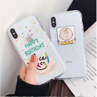 輸入雑貨 スヌーピー ケータイケース snoopy  iphone XR XsMAX 最大種類 iphone 8 7 6 6 s-plus チャーリーブラウン HBD