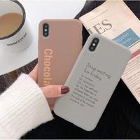 輸入雑貨 チョコレート アートレター   iphone 11 Pro MAXケース 最大種類 iphone 8 7 6 6 s-plus