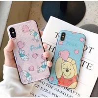 輸入雑貨 ディズニー ハートベビーカラープーさん  iphone XR XsMAX 最大種類 iphone 8 7 6 6 s  ベビーカラー