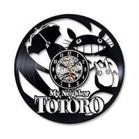 輸入雑貨 トトロ 30cm レコード盤 壁掛け時計 アニメ 映画 人気  インテリア ディスプレイ 6