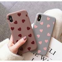 輸入雑貨 シンプル ハート2 ♡  iphone XR ケース 最大種類 iphone 8 7 6 6 s-plus スマホケース