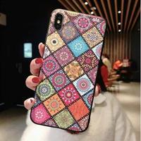 輸入雑貨 レトロトーテム ケータイカバー  iphone XR XsMAX 最大種類 iphone 8 7 6 5 s-plus レトロ1