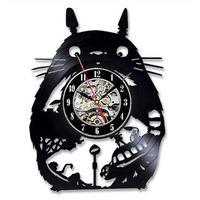 輸入雑貨 トトロ 30cm レコード盤 壁掛け時計 アニメ 映画 人気  インテリア ディスプレイ 13