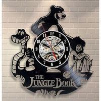 輸入雑貨 ジャングルブック 30cm レコード盤 壁掛け時計 アニメ 映画 人気  インテリア ディスプレイ 4