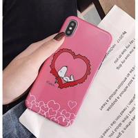 輸入雑貨 スヌーピー ケータイケース snoopy ケータイカバー  iphone XR XsMAX 最大種類 iphone 8 7 6 6 s-plus ハッピーフレンズ IMD ピンク2