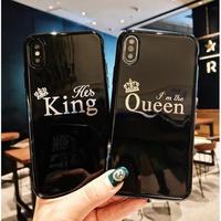 輸入雑貨 シンプル KING & QUEEN iphone 11 Pro MAX ケース 最大種類 iphone 8 7 6 6 s-plus スマホケース  ティアラ3
