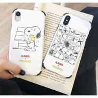 輸入雑貨 スヌーピー ケータイケース snoopy iphone XR XsMAX 最大種類 8 7 6 6 s-plus  シンプルホワイト